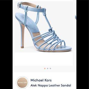 Micheal Kors Baby blue kitten heel sandals